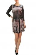 Трикотажное платье с черными вставками | П193-1729-1792