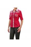 Розовая блузка с коротким рукавом | Б863-1711-1714