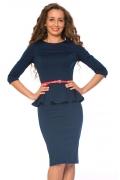 Темно-синее платье Donna Saggia | DSP-66-41t