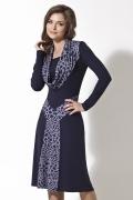 Темно-синее трикотажное платье | B2 018