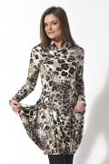 Леопардовое платье-туника | B2 140