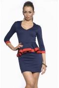 Платье с v-образным вырезом | DSP-83-41t