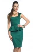 Изумрудное платье без рукавов | DSP-84-38
