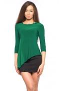 Трикотажная блузка зеленого цвета | DSB-20-44t