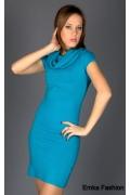 Синее трикотажное платье | 8001b