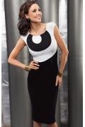 Черно-белое платье Enny | 15001