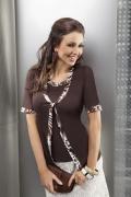 Блузка Enny шоколадного цвета | 15002