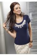 Темно-синяя блузка Enny | 15025
