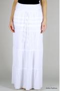 Длинная белая юбка Emka Fashion | 367-lyon