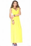 Длинное желтое платье Donna Saggia | DSP-40-54t