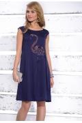 Синее платье-хитон Zaps Frances