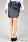 Черная юбка с баской | 358-luci