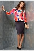 Комбинированное платье TopDesign   B3 122