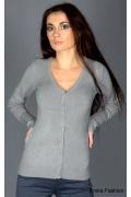 Светло-серая женская кофта Yiky Fashion | 8039