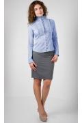 Офисная блузка голубого цвета Golub   Б271-1710