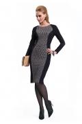 Черно-серое платье Zaps Iva
