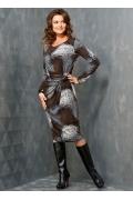 Трикотажное платье TopDesign B3 108