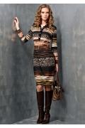 Осеннее платье TopDesign B3 022