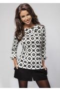 Черно-белая блузка Enny 16020