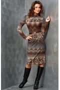 Трикотажное платье TopDesign B3 085