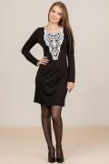 Черное платье с белым кружевом Remix 1823