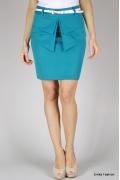 Синяя юбка с баской Emka Fashion 359-arta