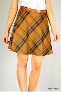 Короткая юбка в клетку Emka Fashion 385-lusen