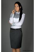 Emka Fashion - прямая серая юбка | 129-naomi