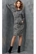 Платье с эффектом юбки и блузки TopDesign B3 067
