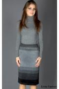 Прямая юбка Emka Fashion интересной расцветки | 001-viki