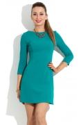 Короткое платье бирюзового цвета Donna Saggia DSP-100-19t