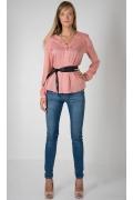 Розовая в горошек блузка Golub Б890-2086