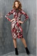 Стильное трикотажное платье TopDesign B3 039