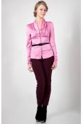 Розовая блузка из шифона Golub Б690-1765