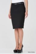 Черная прямая юбка Emka Fashion 362-nicole