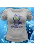 Женская футболка-хамелеон Space Cat
