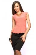Персиковая блузка Donna Saggia DSB-19-31