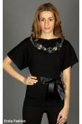 Модный черный джемпер Yiky Fashion | 3510018