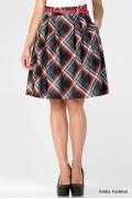 Клетчатая юбка-колокол Emka Fashion 322-maritanna