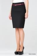 Черная прямая юбка Emka Fashion 417-rumina