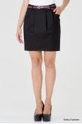 Короткая юбка черного цвета Emka Fashion 451-inna