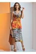 Летнее трикотажное платье TopDesign A4 013