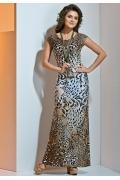 Летнее платье из трикотажа TopDesign A4 015