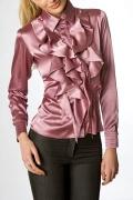 Атласная блузка с шикарным жабо | Б671-1016