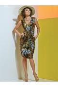 Летнее платье леопардовой расцветки TopDesign A4 047