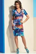 Летнее трикотажное платье TopDesign A4 137