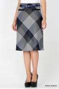 Стильная юбка в клетку Emka Fashion 471-divin