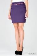 Короткая фиолетовая юбка Emka Fashion 453-avgustina
