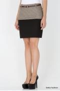 Короткая двухцветная юбка Emka Fashion 443-peggy