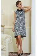 Черно-белое платье с воротником TopDesign Premium PA4 31
